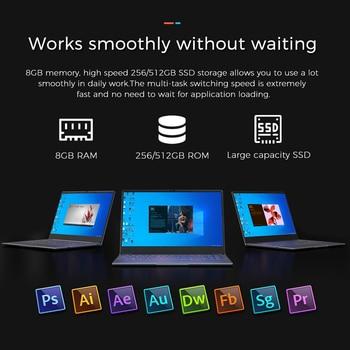 KUU K2S For Intel Celeron J4115 14.1-inch IPS Screen All Metal Shell Office Notebook 8GB RAM 256GB/512GB SSD with type C laptop 4