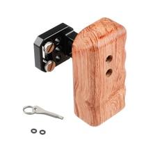 Kayulin ימין עץ ידית אחיזה עבור אוניברסלי מצלמה כלוב על צד DSLR מצלמה ידית