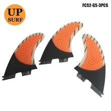 Surfing FCS2 Fin G5/G7 3pcs per set Honeycomb Fibreglass surf FCSII G7 Fins Carbon Fiber