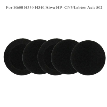 5 Pairs of Foam Ear Pads Cushion Cover for logitech- H600 H 600 Wireless Headset L41E image