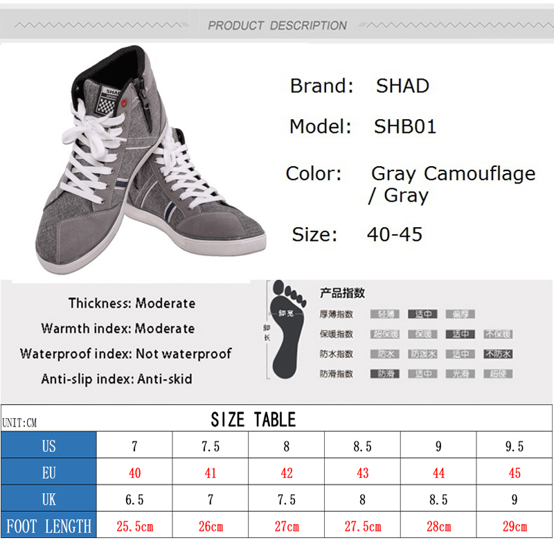 Image 5 - SHAD Fashion Casual Wear Motorbike Riding Shoes Motorcycle Boots Street Racing Boots Breathable Biker Boots-in Motocycle Boots from Automobiles & Motorcycles