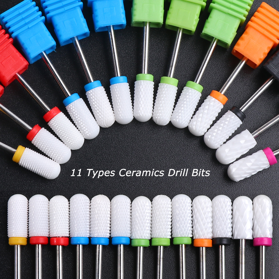 11 Types Ceramic Cutters For Manicure 3/32