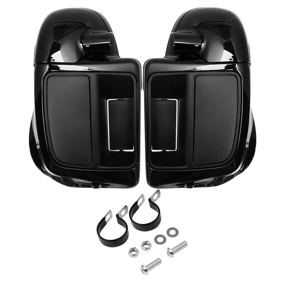 Мотоциклетный глянцевый черный контейнер для перчаток с нижними вентилируемыми ножками для Harley Touring Street Glide Ultra Road King 2014-2020