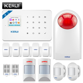 KERUI WI8 WIFI GSM Burglar Security Alarm System anti-pet motion detector door sensor wireless siren 1