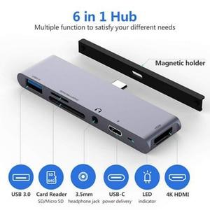 Portable USB 3.0 Ports haute vitesse type-c Hub usb-c à 4K HDMI ordinateur Portable PD charge SD & TF lecteur de carte pour IPad Pro MacBook