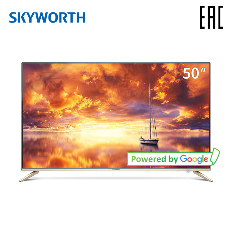 Телевизор 50 дюймов Skyworth 50G2A 4K AI smart TV Android 8.0