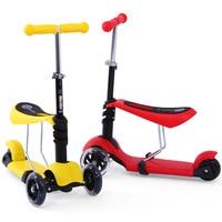 Sen Ju Crianças 3 2 Year Old Bebê Scooter de Três Rodas 4 Quatro Rodas Três em  uma Caixa de Scooter De Flash Bloco de Descanso Patinetes e scooters     -