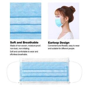 Image 5 - 50 шт маска одноразовая маска Нетканая ткань дышащая маска для лица