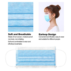 Image 5 - 50pcs mask Disposable Mask Non woven Fiber Fabric Breathable Face Mouth Mask