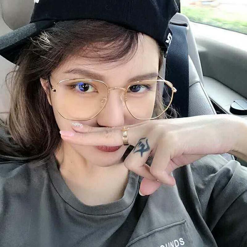 SPH 0  -1.0 -1.5 -2.0 -2.5 -3.0 -3.5 -4.0 Women Alloy Myopia Glasses Square Non Spherical Layer Coated Lenses Eyeglasses
