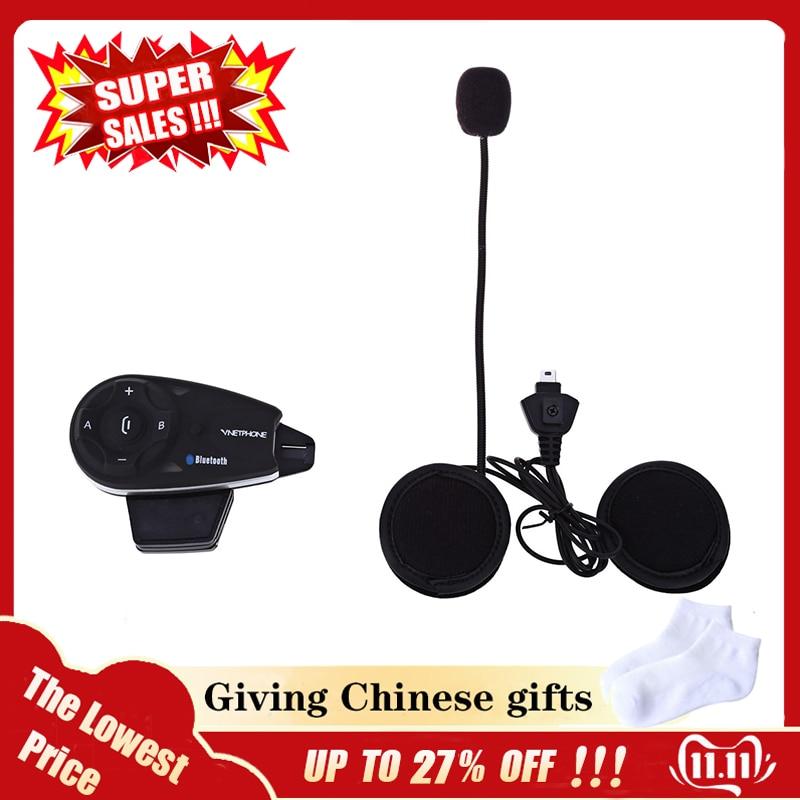 OllyMurs V5 1200M Bluetooth Motorcycle Helmet Interphone Full-duplex Intercom Headset Kit For 5 Riders XL-96
