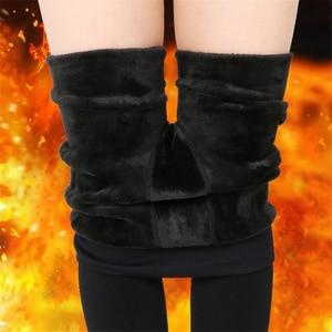 Image 3 - NORMOV vrouwen Warm Leggings Hoge Taille Elastische Dikke Fluwelen Leggings Legins Fitness Solid Slim Legging Vrouwelijke Plus Size
