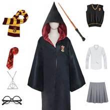Unisex Ravenclaw Hufflepuff szata szalik sweter koszula okulary różdżka Cosplay dziewczyny kobiety hermiona kostium kreator kostium na Halloween tanie tanio CHANSUNRUN CN (pochodzenie) Kamizelka Kurtki Spódnice Film i TELEWIZJA Dla dorosłych Zestawy Hermione Hermione Clothes