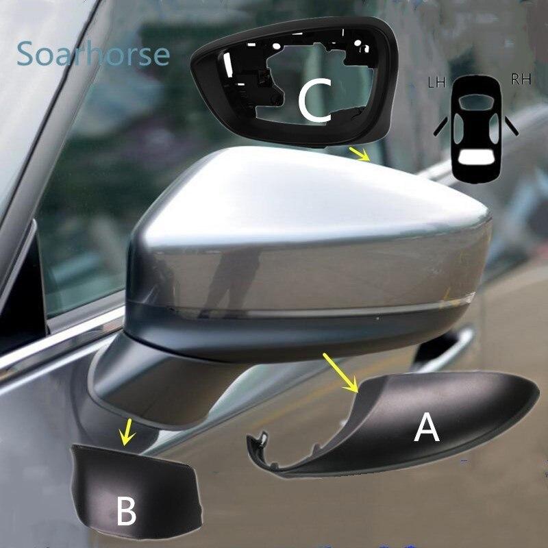 Para Mazda CX-5 CX5 2017 2018 2019, espejo retrovisor lateral de coche, cubierta inferior, marco de espejo de puerta, tapa de carcasa