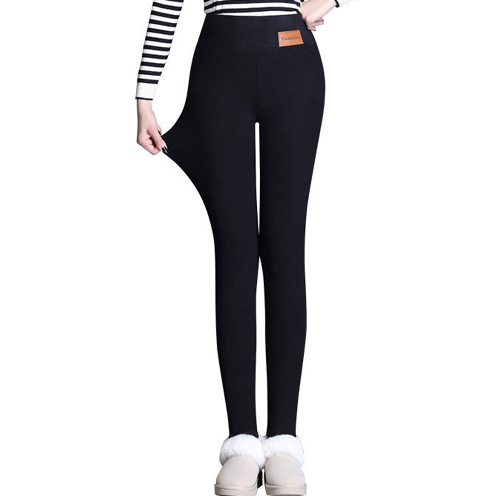 Women Ski Pants Winter Warm Thick Fleece Lined Leggings High Waist Trousers Stretch Skinny Pants Leggings Ladies Pants