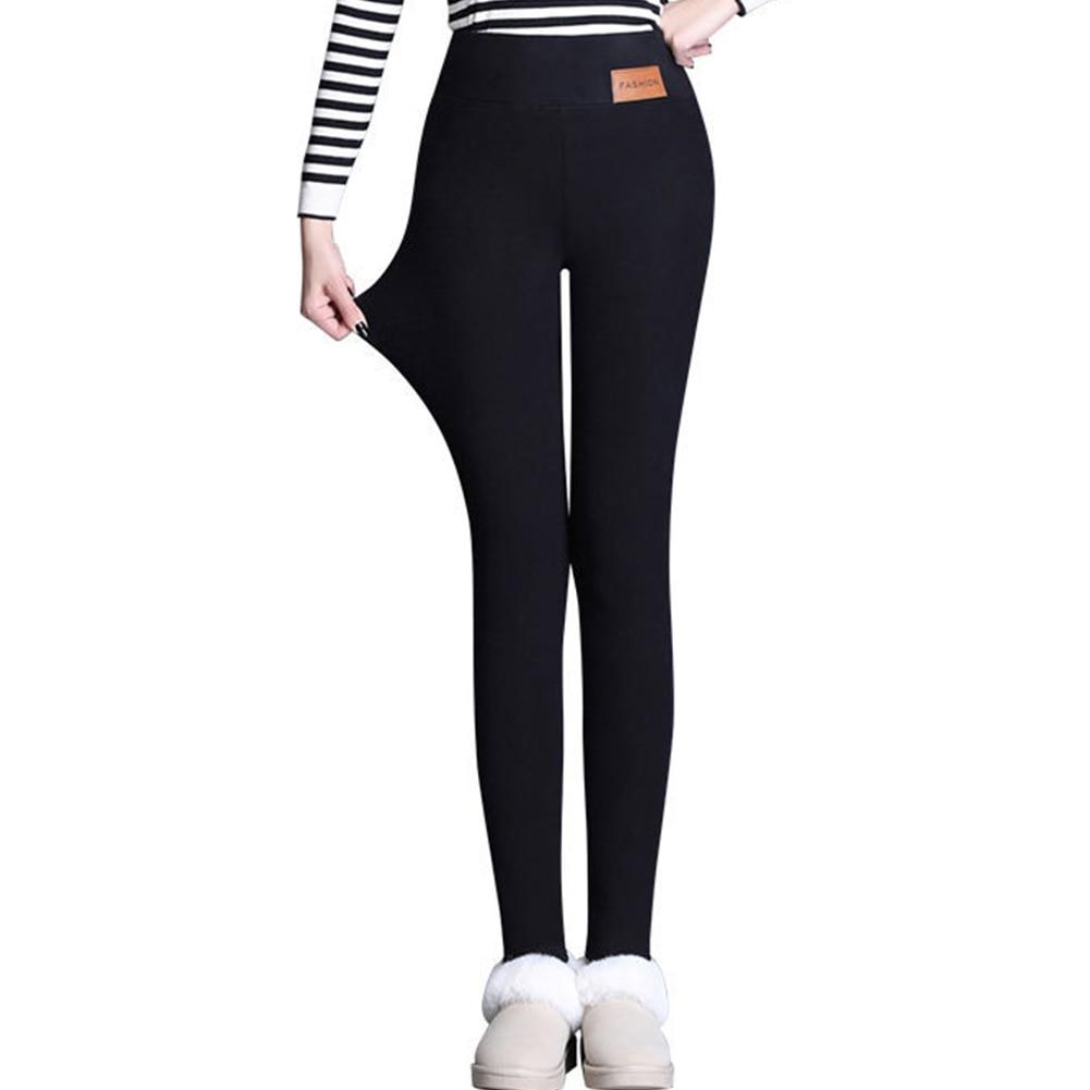 Women Ski Pants Winter Warm Thick Fleece Lined Leggings High Waist Trousers Stretch Skinny Pants Leggings Ladies Pants