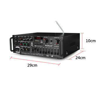2000W 4ohm 2CH bluetooth Stereo Amplifier   6