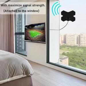 2021 Новейшие Крытый 150 миль 4K цифровой телевизионная антенна Антенна усиленный HD телевизионная антенна DVB-T2 Freeview isdb-tb усилитель сигнала