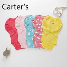 Carter – vêtements pour bébé fille, barboteuse, combinaison d'escalade, cinq pièces, manches longues, une pièce, vêtements pour bébé garçon, printemps et automne