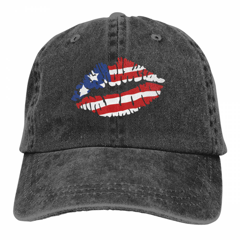 American Lips Casquette patriotic,patriotic us,usa,american,us flag lips,american flag,us flag,4th of july,independence day,lips