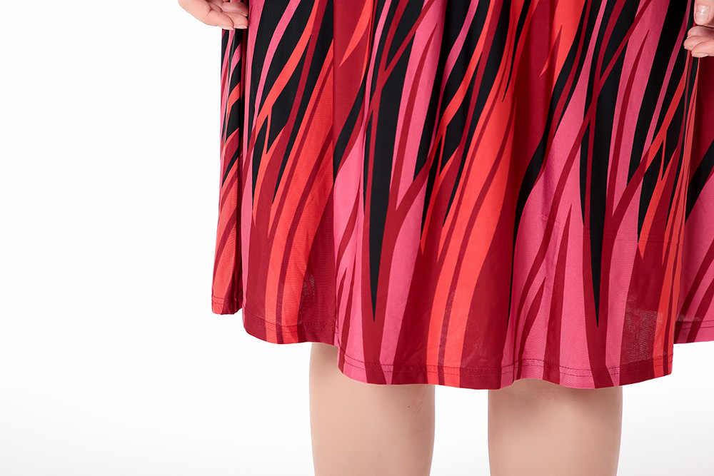 ใหม่พลัสขนาดเสื้อผ้าผู้หญิง 2020 ฤดูร้อนขนาดใหญ่ขนาด 6XL ผู้หญิง 5XL ชุด V คอแขนครึ่งชุดปาร์ตี้ vestidos