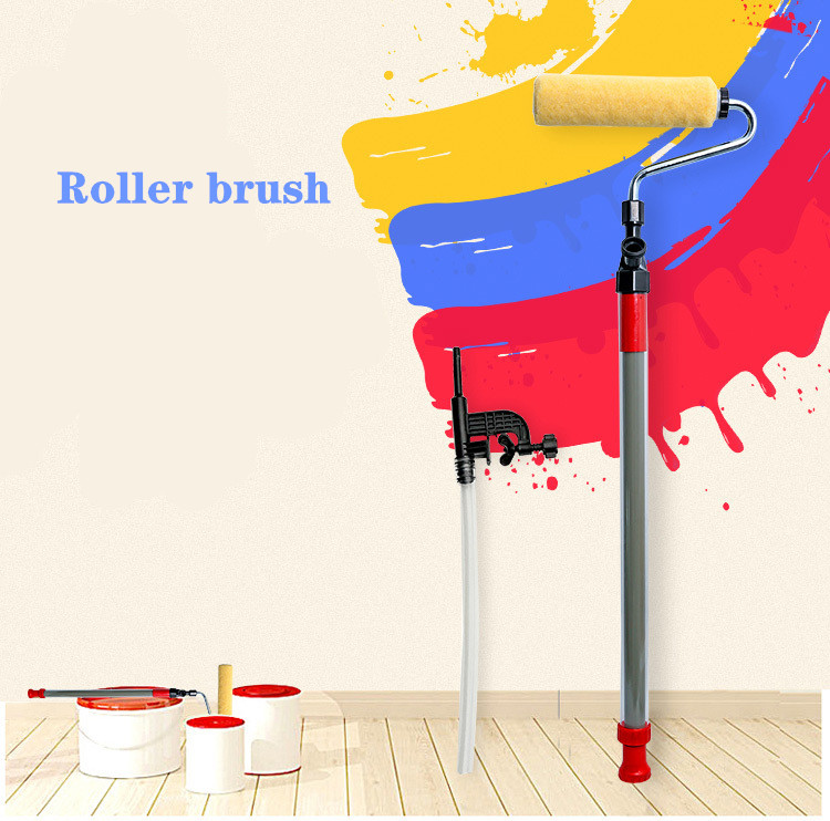 Paint Roller Brush Self-priming Paint Roller Household Wall Decoration Brush Diy Tool Art Paint  Rolling  Roll