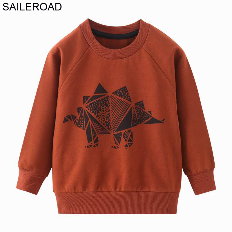 SAILEROAD Boys Dinosaur Hoodies Children Hoodies Sweatshirt Boys Girls Spring Coat Kids Long Sleeve Casual Outwear Baby Clothing