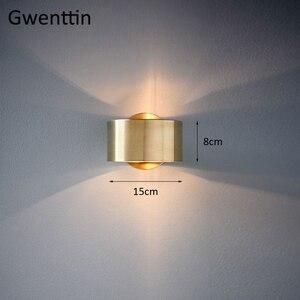 Image 5 - Современный роскошный золотой настенный светильник, светодиодный настенный светильник, настенные светильники, зеркальный светильник s для дома, арт деко, лофт, промышленный светильник, светильник для лестницы