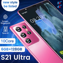 2021New Global Version S21 Ultra Smartphone 8+256GB 5.0Inch Dual SIM Dual Standby Support Face ID 5000mAh 4G Android CellPhone