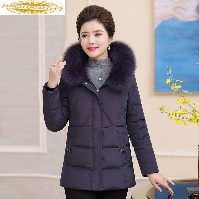 2020 Down Jacket Woman Hooded Plus Size Winter Coat Women Fox Fur Collar Warm Women's Duck Down Jacket 18 813 KJ2476