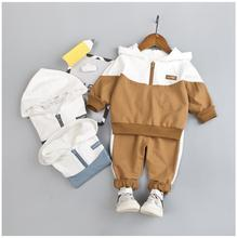 2019 Autumn New Kids Infant Sport Clothing Suit Toddler Boys Clothes Set Cotton Hooded Coat Pants Children Kids Tracksuit цена в Москве и Питере