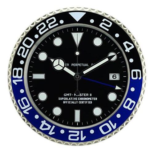 Métal Art montre horloge fonction lumineuse Top qualité montre décor à la maison horloges murales avec Logos correspondants cosmographe série