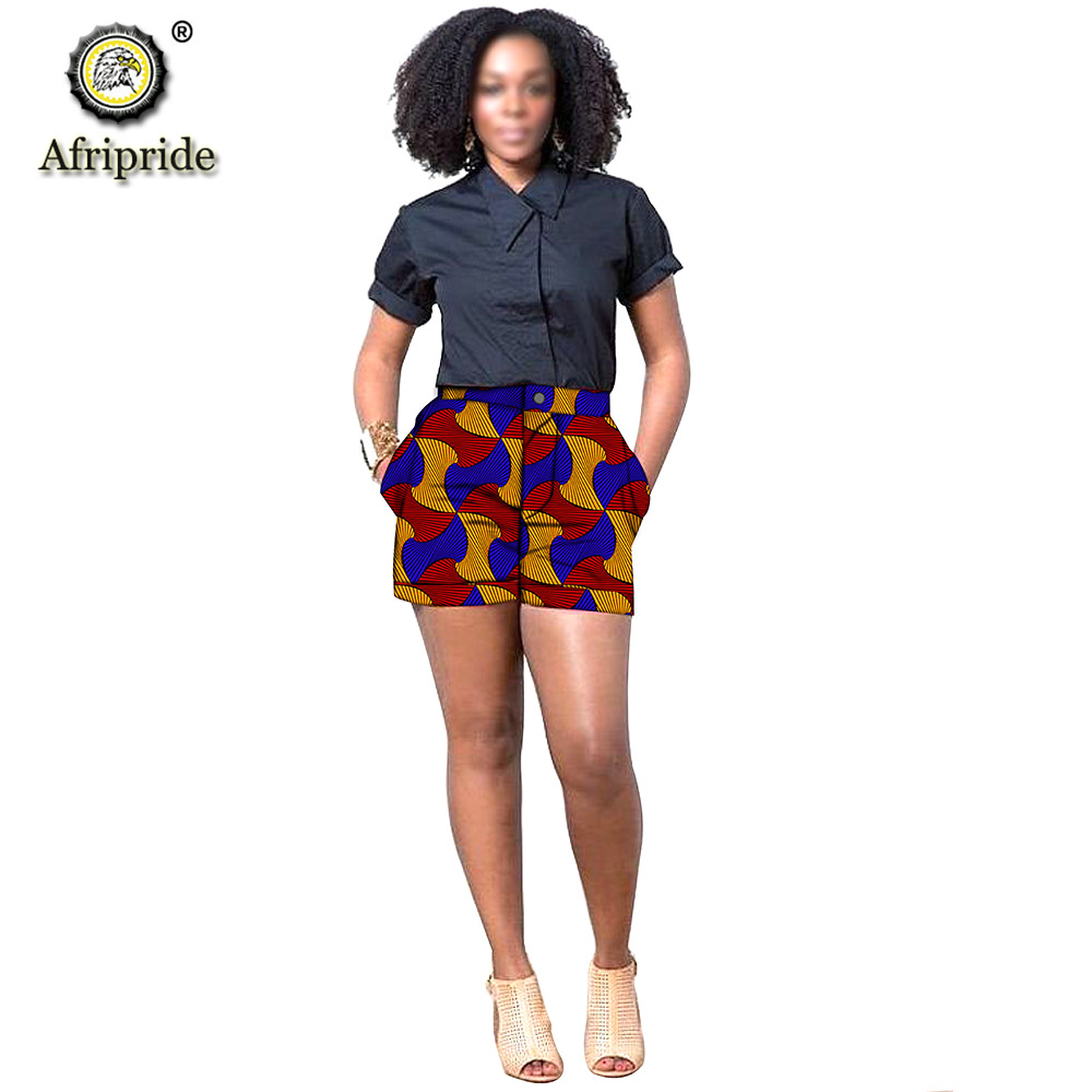 2019 African Print Summer Shorts For Women Women Casual Shorts Plus Size Dashiki Short Ankara Fabric AFRIPRIDE S1921005