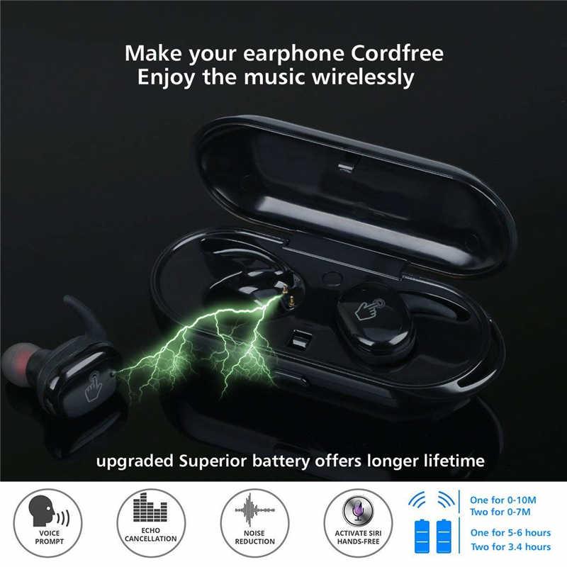 新着ワイヤレス Bluetooth ヘッドセットと TWS4 Bluetooth ジェリー 5.0 タッチスポーツ防水バイノーラル充電ビンヘッドフォン