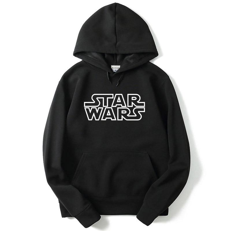 Men's Hoodie Star Wars Letter Print Sweatshirt Fashion Hipster Sportsuit Hip Hop Men Sweatshirt Champion Sweatshirt  Hoodie Men