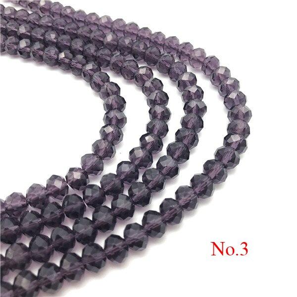 3x4 мм/4x6 мм/6x8 мм Хрустальные Круглые граненые стеклянные бусины для самостоятельного изготовления ювелирных изделий Аксессуары для ювелирных изделий - Цвет: No.3