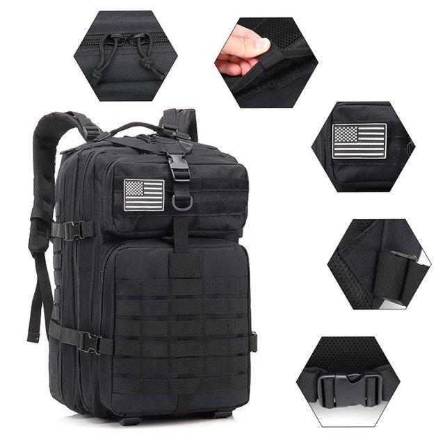 50L Large Capacity Men Army Military Tactical Backpack 3P Softback Outdoor Waterproof Bug Rucksack Hiking Camping Hunting Bags 4