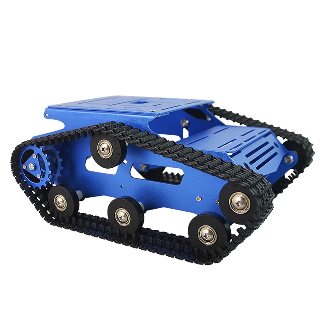DIY Smart Robot Tank Crawler Chassis Car Frame Kit For Children Developmental Early Education Toys - Blue Black Red Golden Green