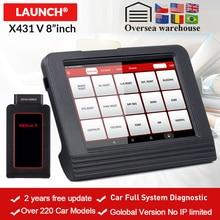 LAUNCH X 431 V 8 OBD2 블루투스/Wifi 자동차 전체 시스템 진단 도구 제공 11 재설정 ECU 코딩 작동 테스트 AF 조정