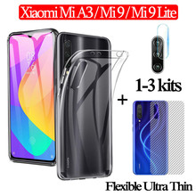 1-3kits lens glass for Mi A3 Xiaomi Mi9 Lite Clear Case Back Film Mi 9Lite Ultra Thin Back Cover Mi A 3 Xiomi Mi9Lite Mia3 ven a mi