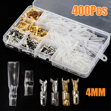 200pcs 4mm Bullet Connectors Car Motorcycle Bullet Terminals Wire Bullet Crim Connectors Terminal with 200pcs Insulation Covers 144pcs 2 8mm electrical connector automotive motorcycle brass bullet connectors terminals repair kits with insulation covers
