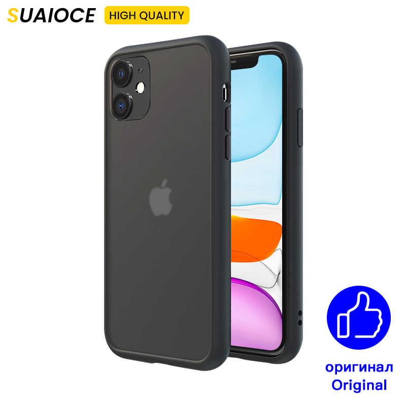 SUAIOCE Chống Sốc Armor Cho iPhone 11 Pro X XS Max XR Case Trong Suốt Trong Cho iPhone SE 2020 7 8 Plus Hộp Đựng Sang Trọng