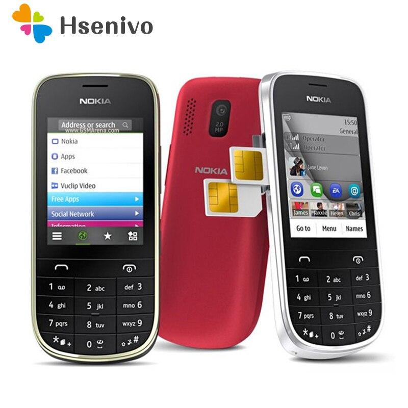 100% téléphone d'origine Nokia Asha 202 débloqué 2.4