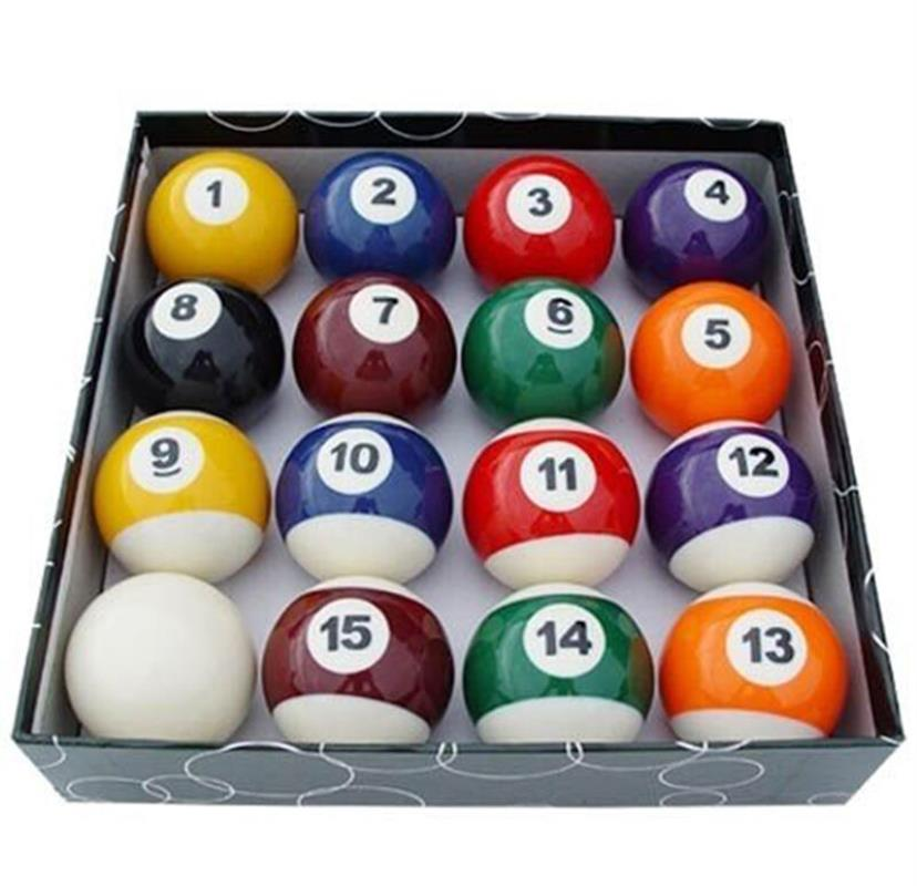 Mini Billiard Balls Complete Set Snooker Pool Plastic Multi-color Indoor Family Game Kids Sports Toys Festival Birthday Gift