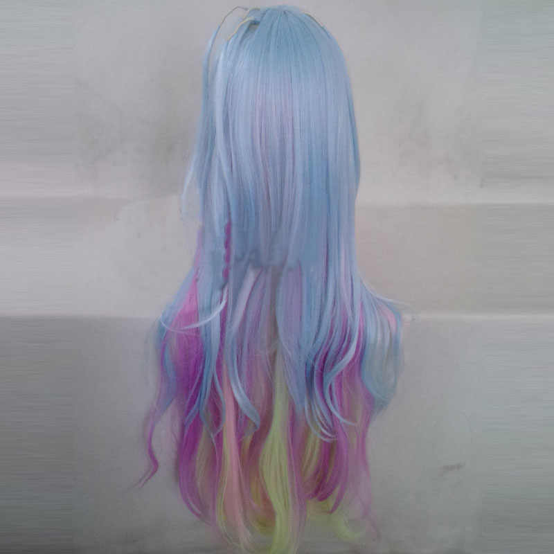 Parrucca sfumata,parrucca per donna colore sfumato parrucca sintetica per capelli ricci sintetici lunghi ricci