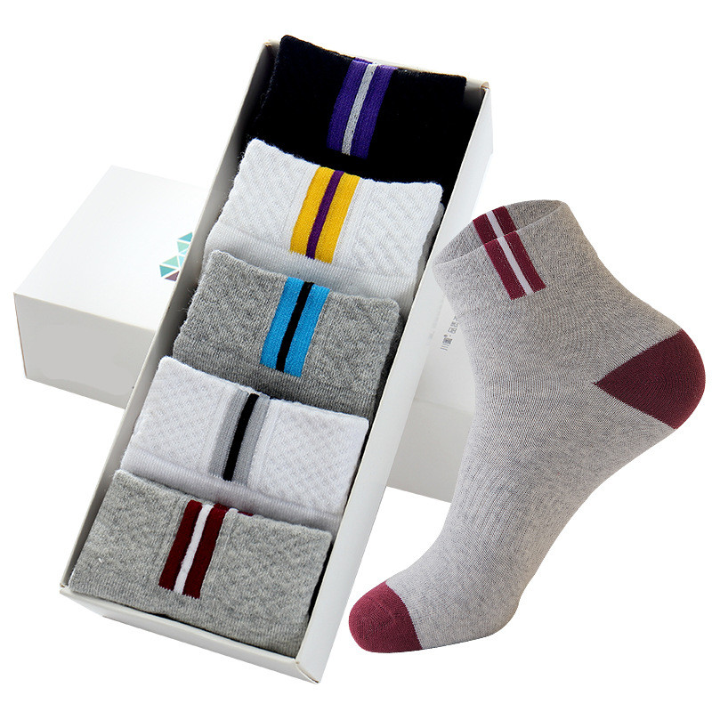 5 Pairs Men Socks Business Male Boy Stretchy Excellent Quality Meias Sock Durable Stitching Solid Fashion Sock  EU 39-43 Meias