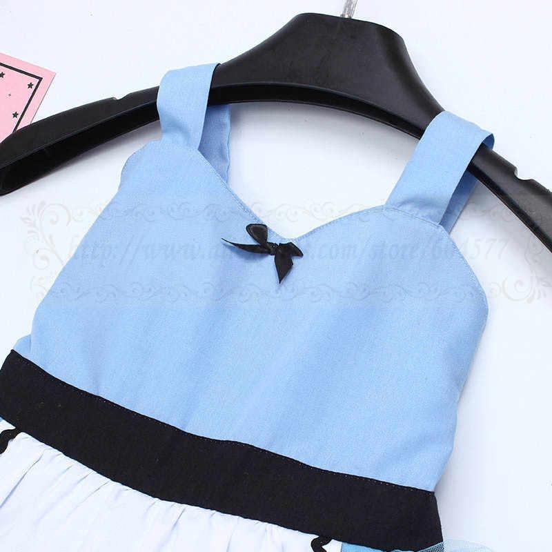 Платье для косплея «Алиса в стране чудес»; платье-пачка; костюм для малышей и девочек; Забавный костюм для особых случаев или дня рождения