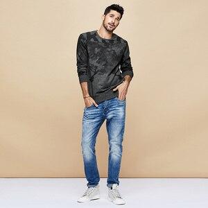 Image 2 - KUEGOU 2020 Herbst Baumwolle Schwarz Druck Brief Sweatshirts Männer Mode Japanischen Street Hip Hop Männlichen Tragen Kleidung Top 4996