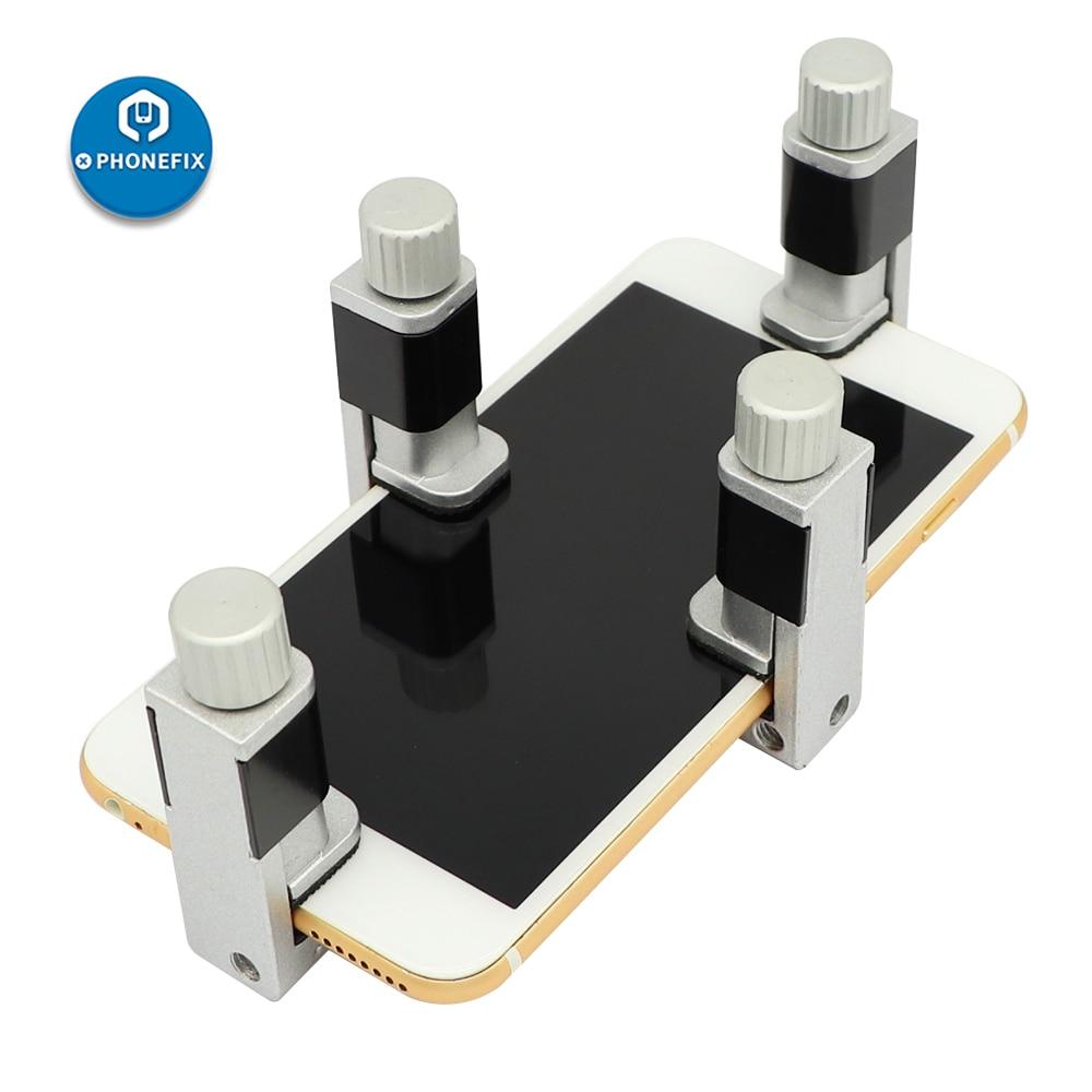 2/4 Pcs Adjustable Aluminum Clip Fixture Mobile Phone LCD Display Screen Fastening Clamp For Cell Phone Tablet Repair Tools Kit