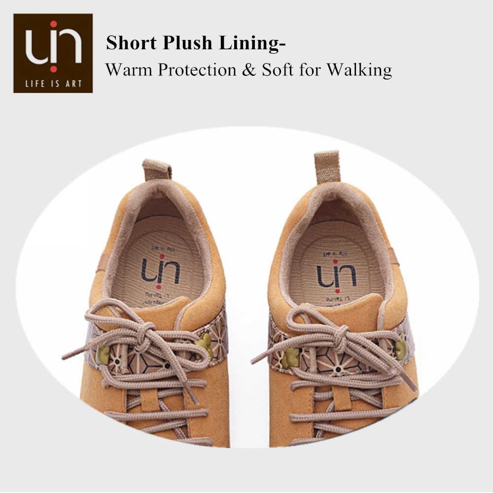 UIN Quebec Serie Herfst/Winter Schoenen voor Vrouwen/Mannen Microfiber Suède Sneakers Brede Voeten Outdoor Casual Flats Schoenen lichtgewicht